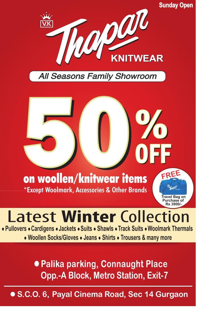 VK Thapar Knitwear - 50% Off