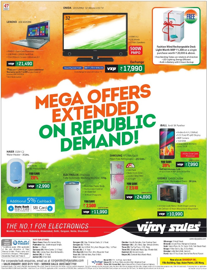 Vijay Sales - Mega Offers