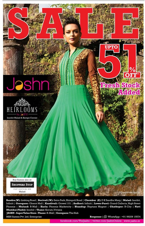 Jashn - Sale - Upto 51% Off