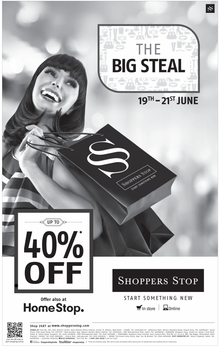 Shoppers Stop - Upto 40% Off Sale