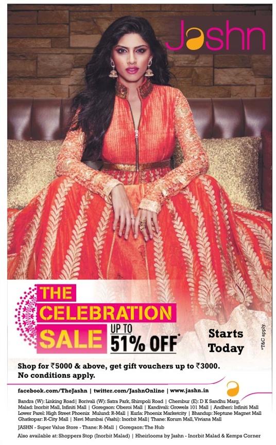 Jashn - Sale - Upto 51% Off