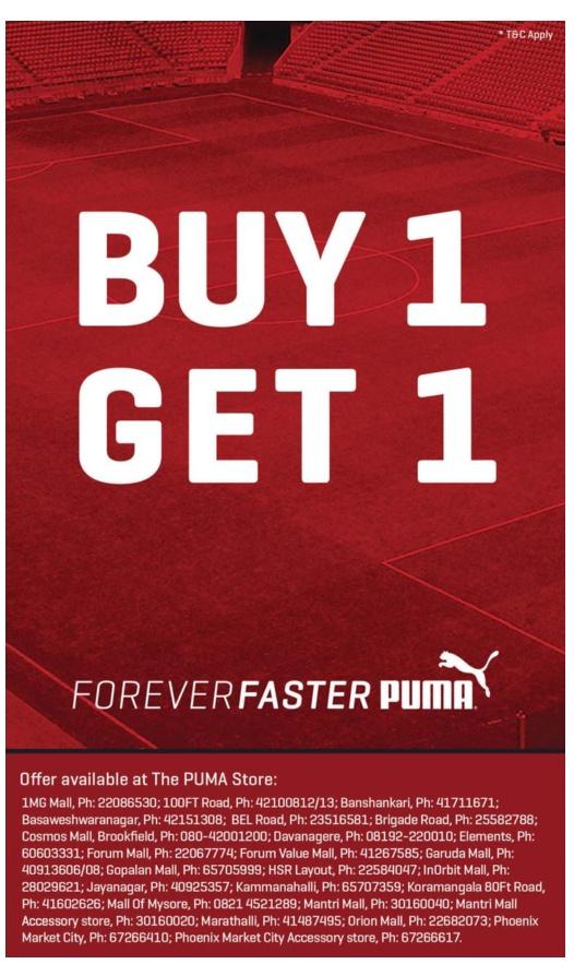 Puma - Buy 1 Get 1