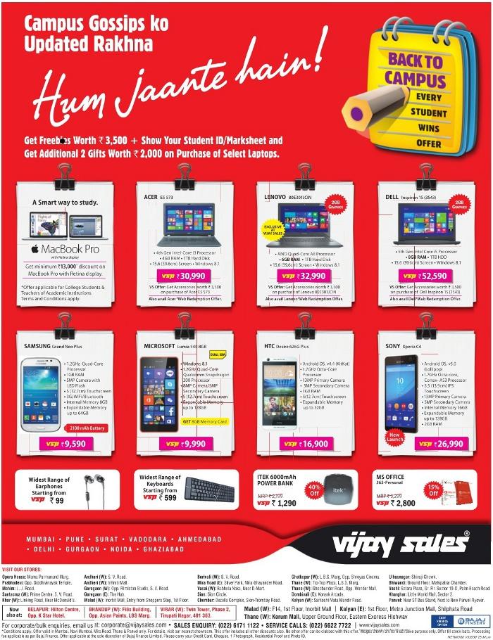 Vijay Sales - Offers on Laptop