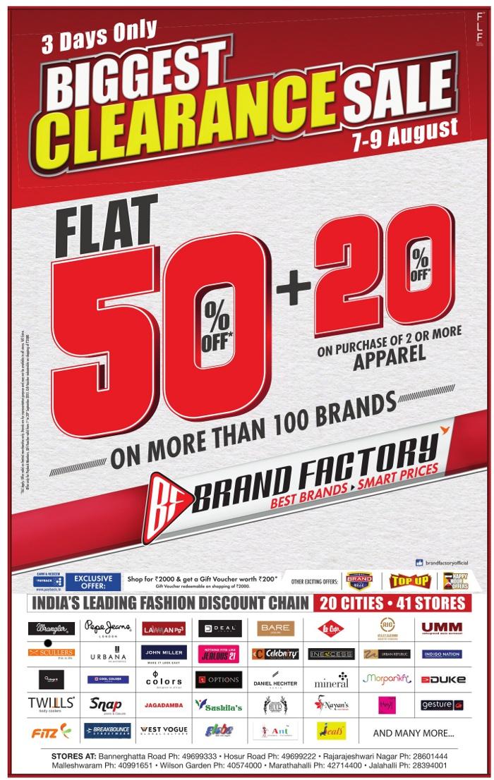 Brand Factory - Biggest Discount Sale