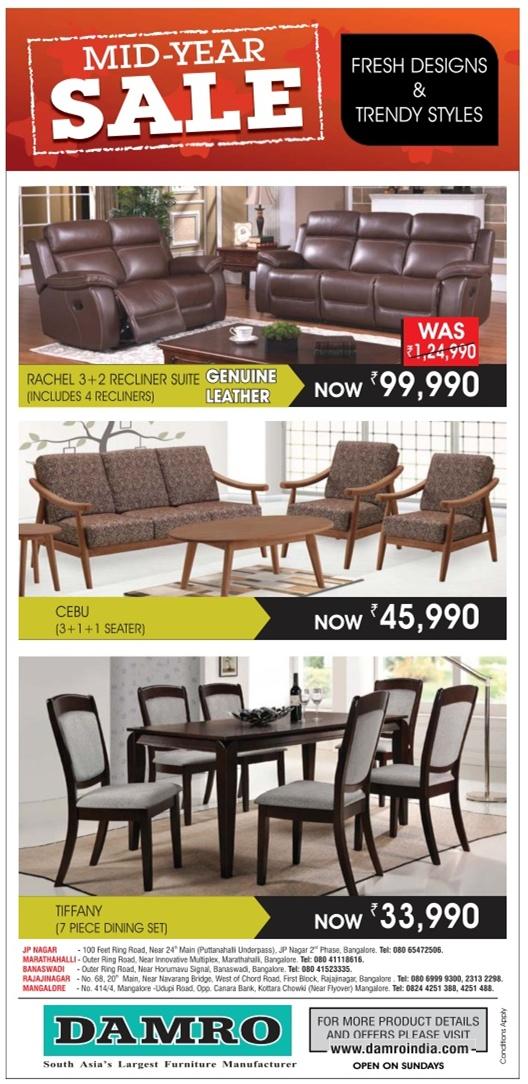 Damro Furniture  - Mid Year Sale