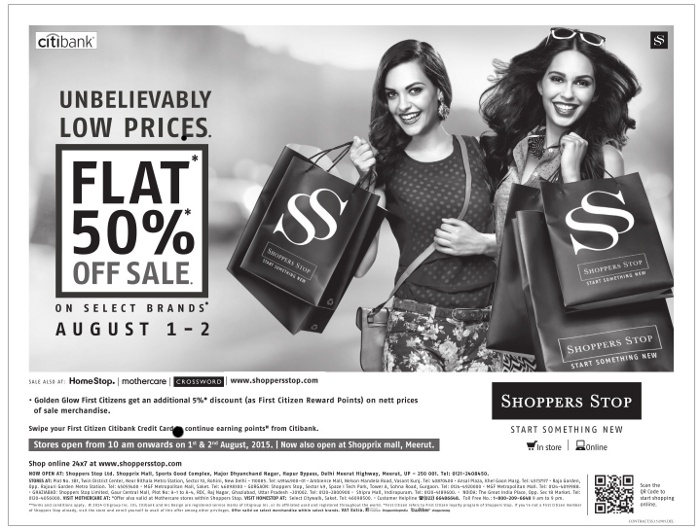 Avail Shoppers Stop Promo Code: Flat 20% OFF on a Purchase of INR 2000 and Above