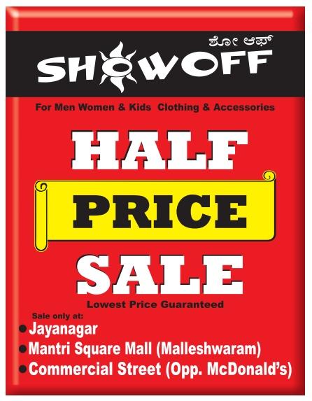 Show Off - Half Price Sale