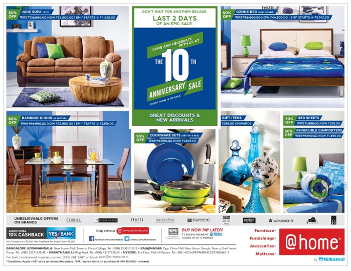 At Home - 10th Anniversary Sale