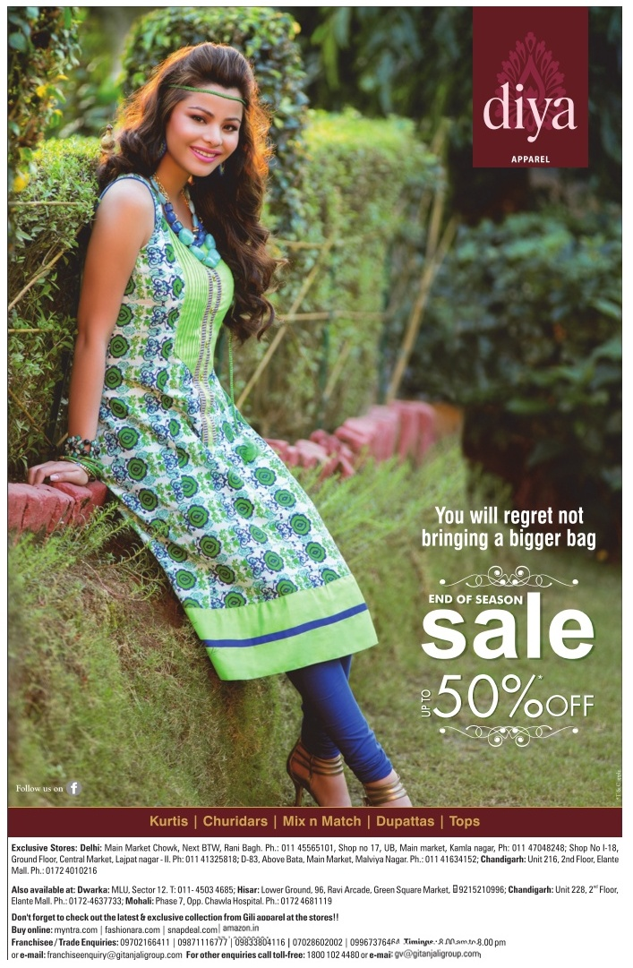 Diya Apparel by Gitanjali Lifestyle - End of Season Sale