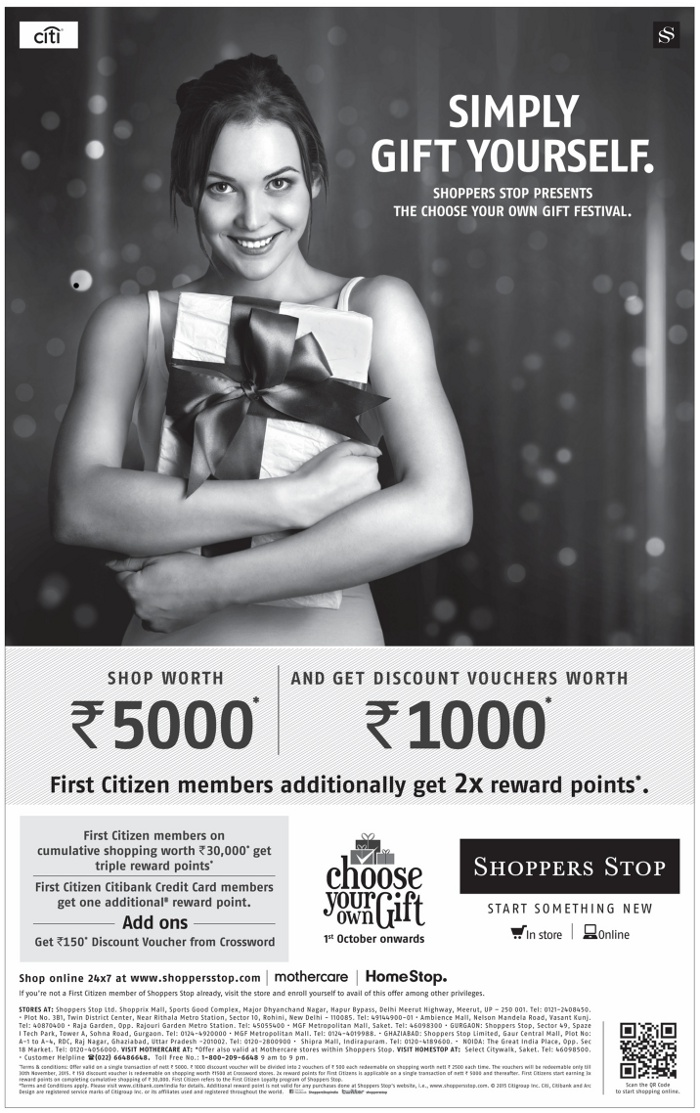 Shoppers Stop - Choose Your Own Gift