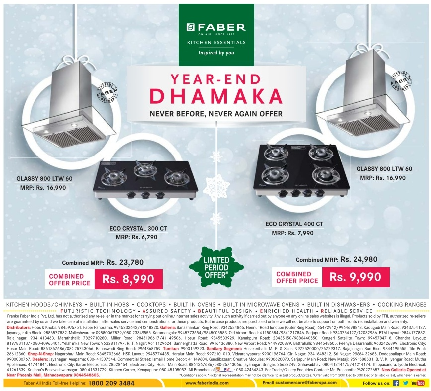 Faber - Year End Dhamaka Offers