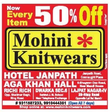 Mohini Knitwears - 50% Off