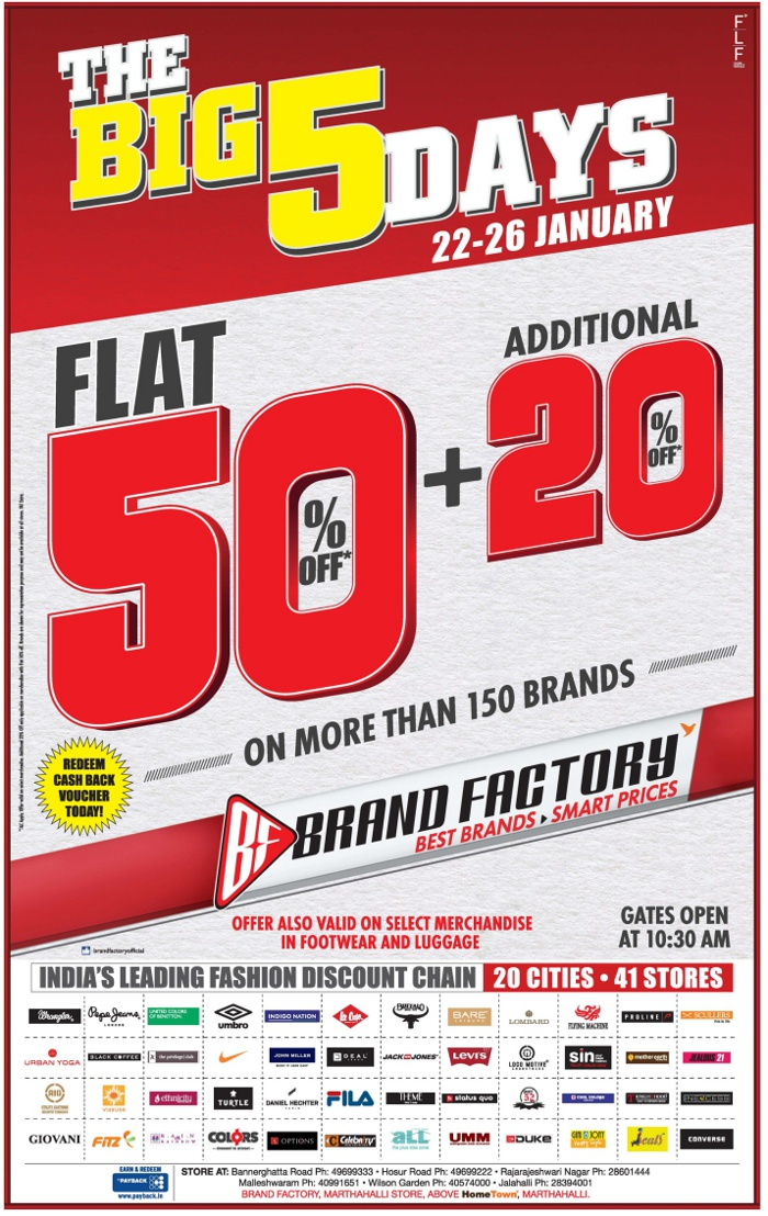 Brand Factory - 5 Days Special