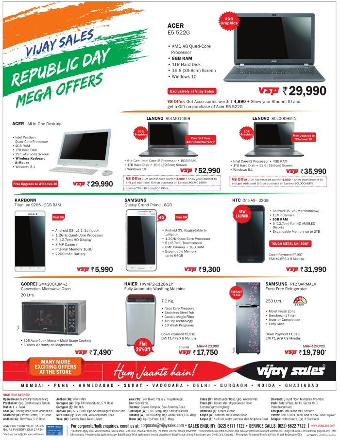 Vijay Sales - Offers on Laptop & Mobiles