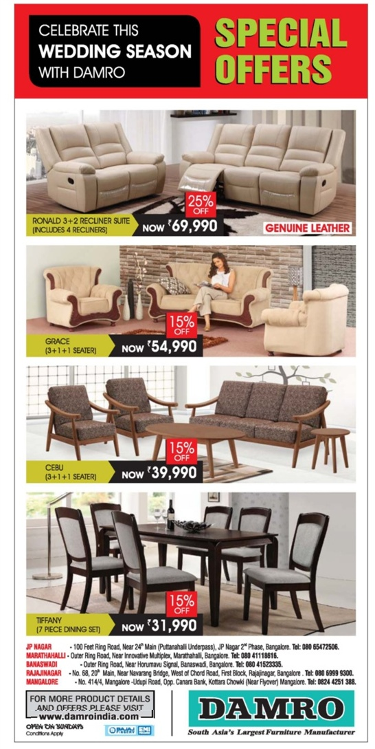 Damro Furniture  - Special Offers