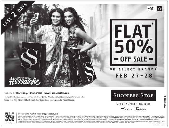 Shoppers Stop - Flat 50% Off Sale