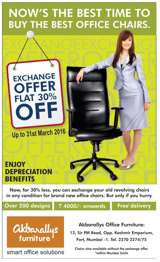 Akbarallys Office Furniture Exchange Offer Flat 30 Off