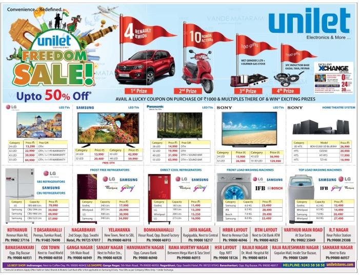 Unilet - Freedom Sale