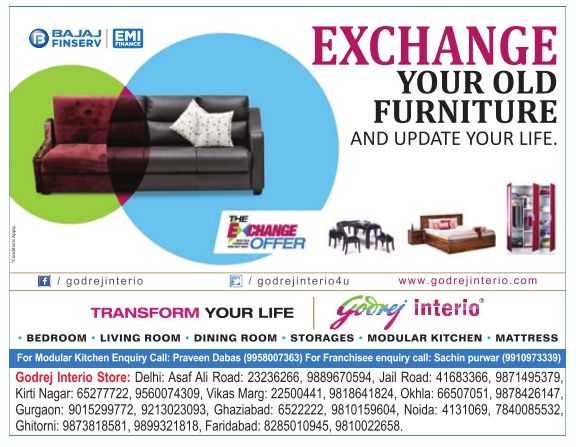Merveilleux Godrej Interio Home Furniture   The Exchange Offer