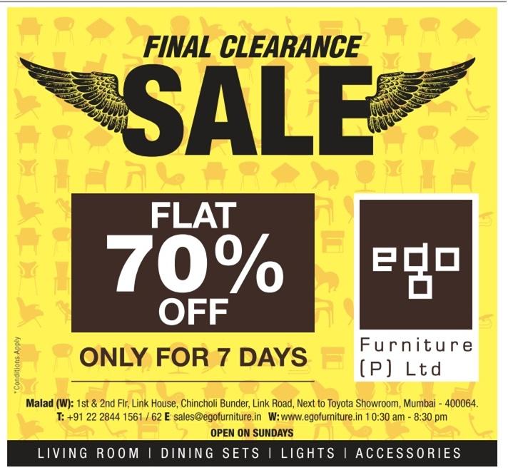 Ego Furniture   Flat 70% Off