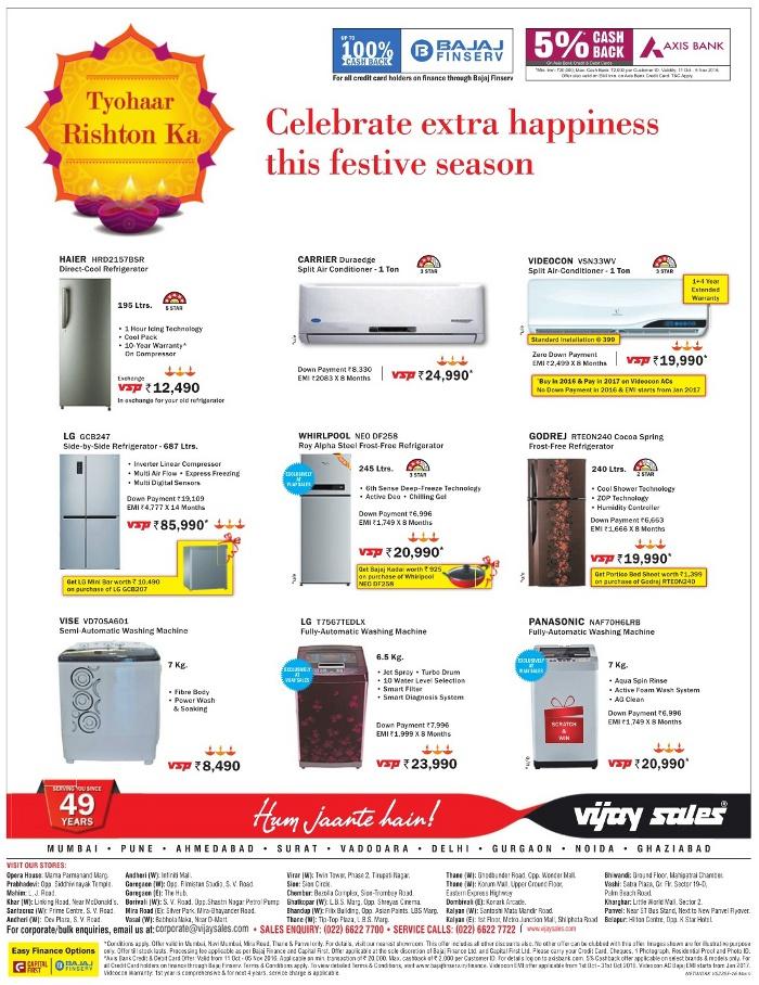 fe79cc77a79 Vijay Sales - Offers on AC   Refrigerators   Mumbai