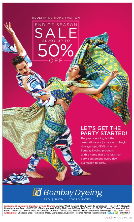 Bombay Dyeing - Sale