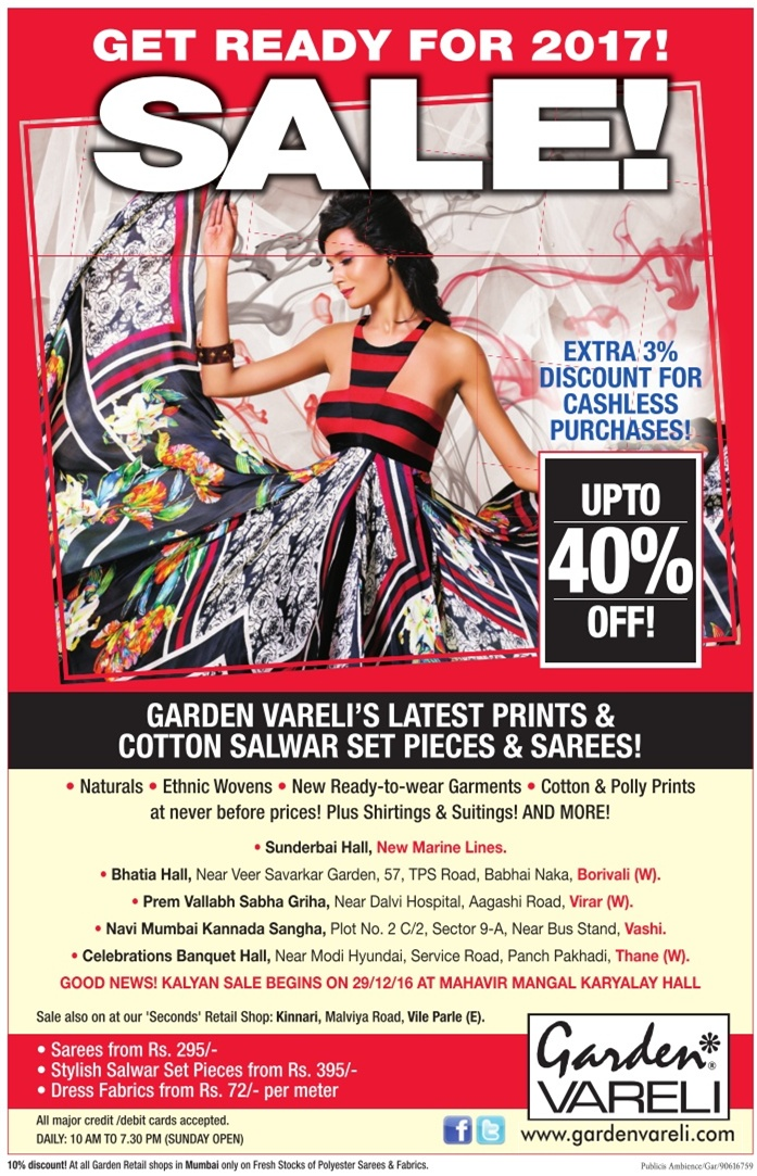 Garden Vareli - Upto 40% Off
