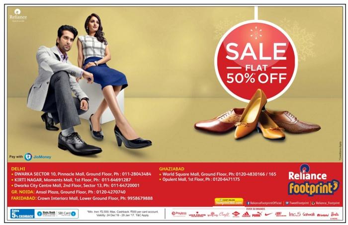 Reliance Footprint - Flat 50% off