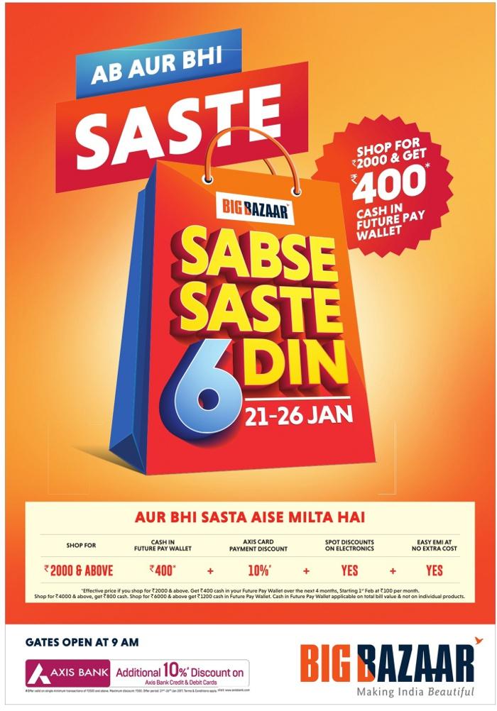Big Bazaar - Sabse Saste 6 Din