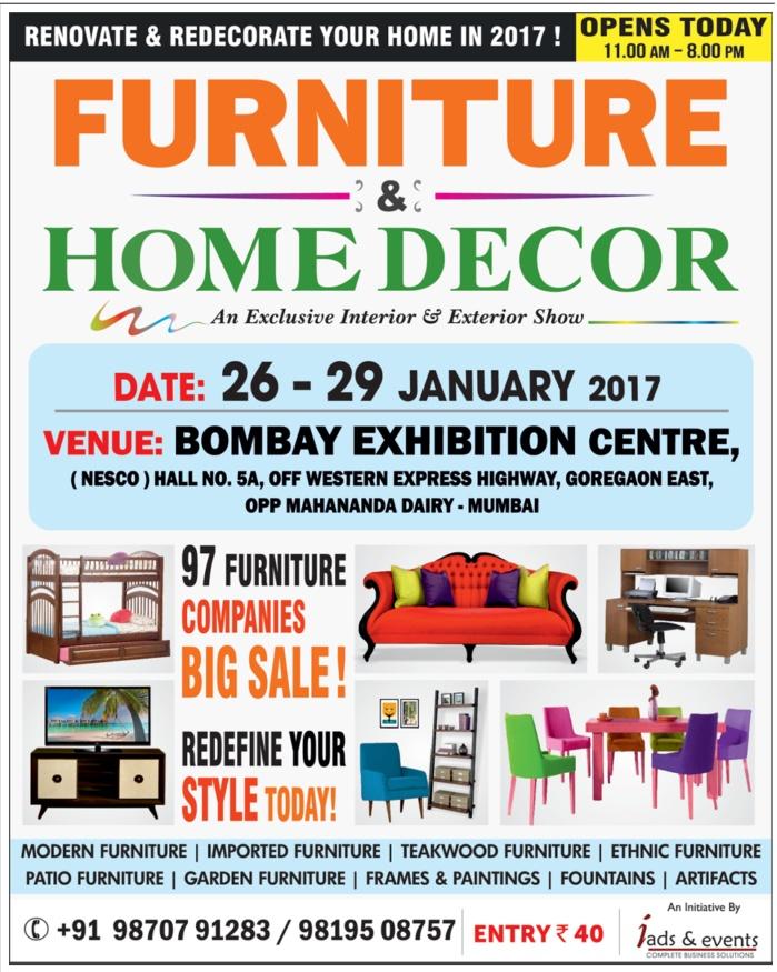 furniture amp home decor exhibition sale mumbai