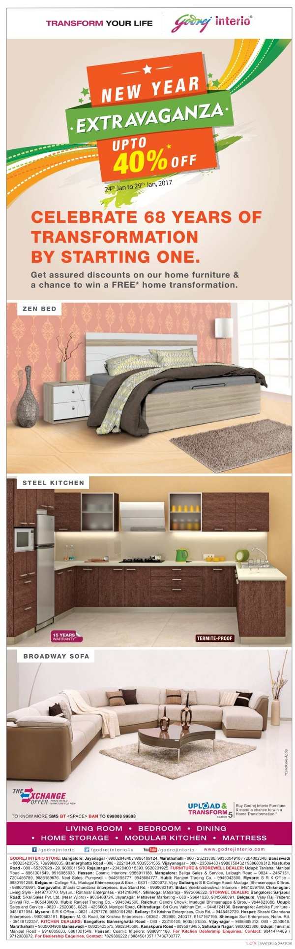 Godrej Interio Home Furniture New Year Offer Bangalore Saleraja