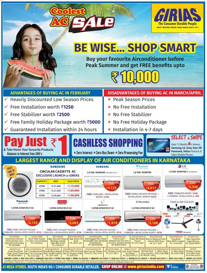 Bangalore deals offers
