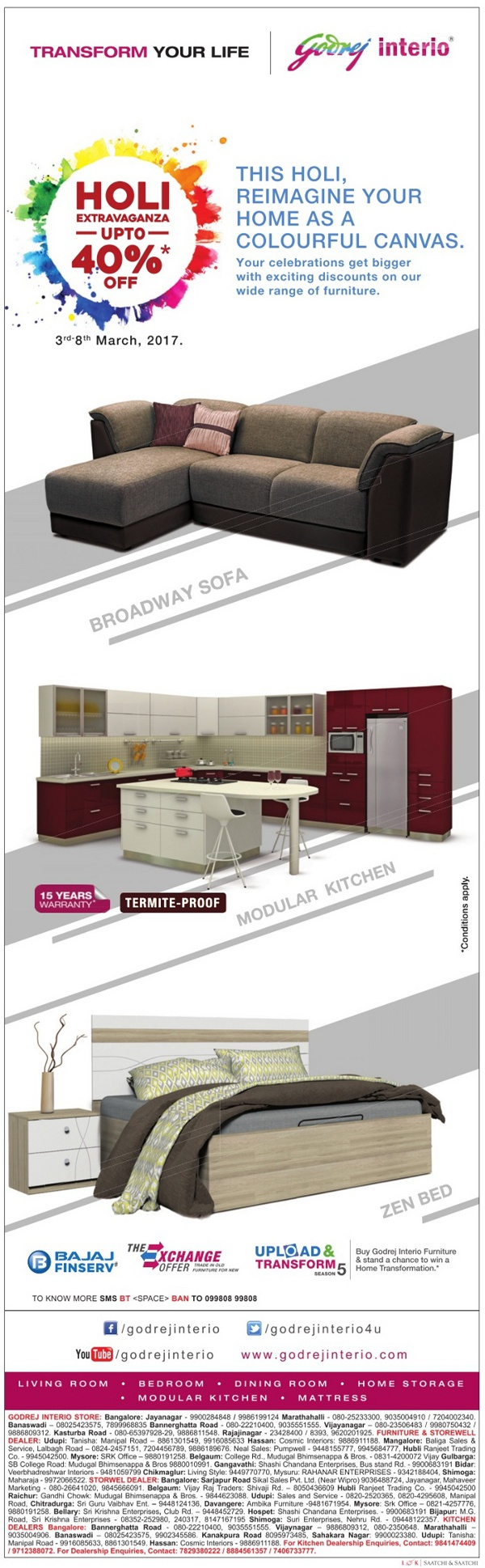 Godrej interio sale bangalore saleraja for Buy furniture online bangalore