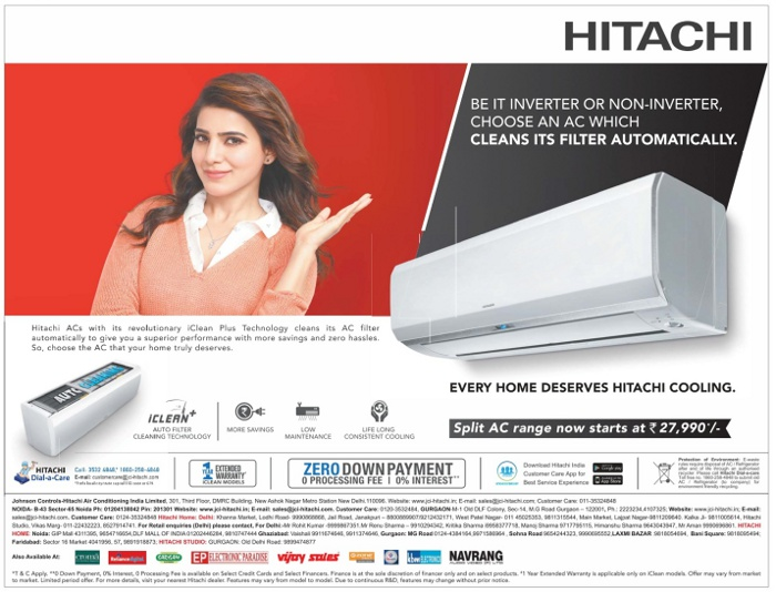 Hitachi Air Conditioners - Split AC Starting from Rs.27,990/-