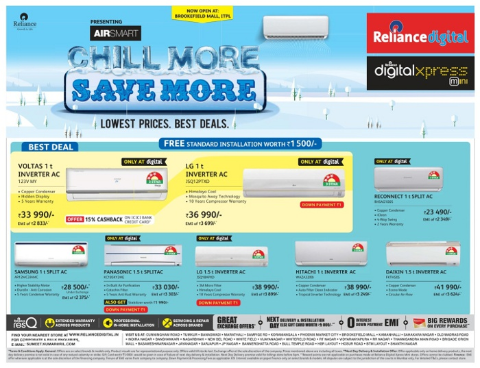 Reliance Digital - Offers on Air Conditioners