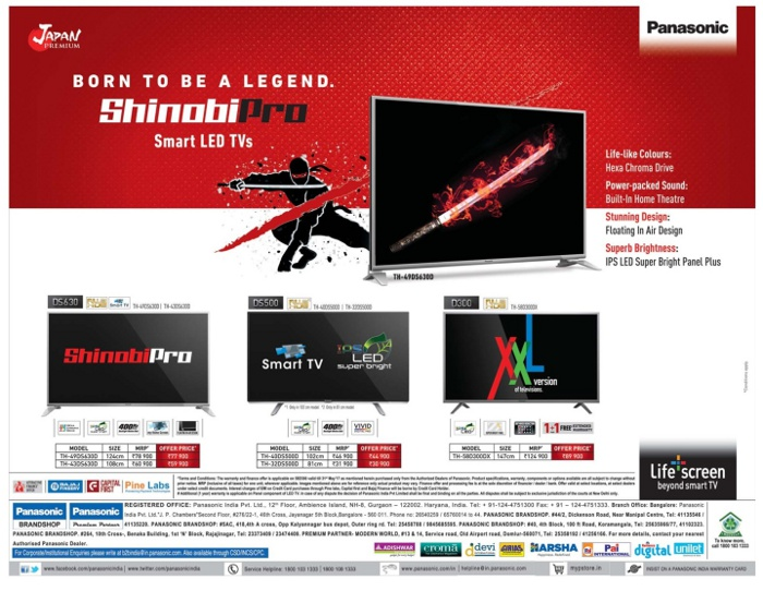 Panasonic Smart TV - Mega Savings Offer