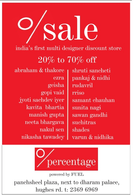0 Percentage - Sale