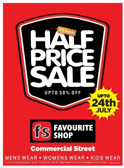 Favourite Shop - Half Price Sale
