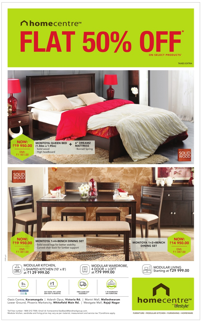 Homecentre By Lifestyle Sale Bangalore Saleraja