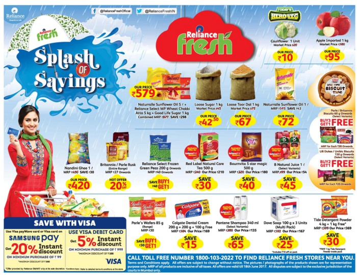 Reliance Fresh / Reliance Super / Reliance Mart - Exclusive Offer