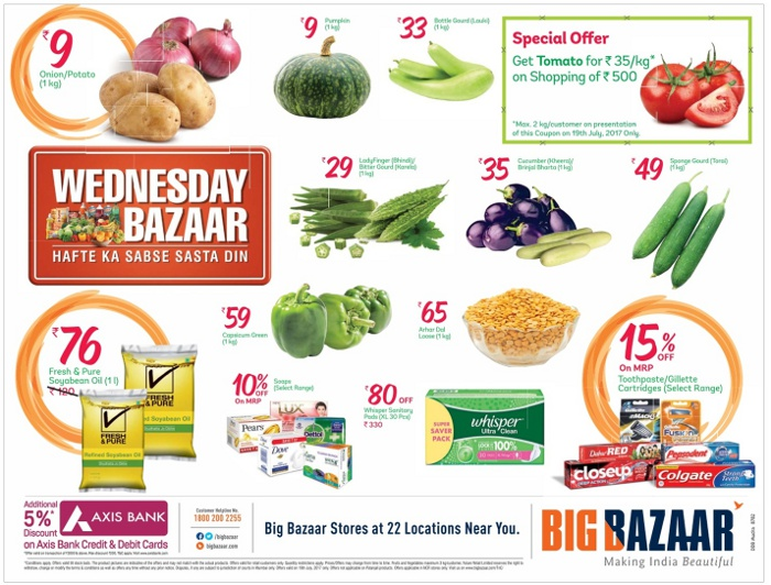 big bazaar super saver wednesday mumbai new delhi bangalore saleraja