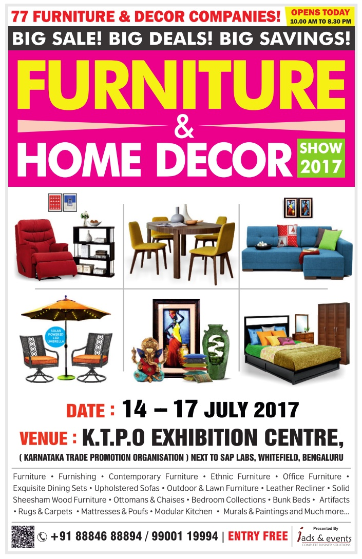 Furniture Furnishings Fair Exhibition Cum Sale Bangalore Saleraja