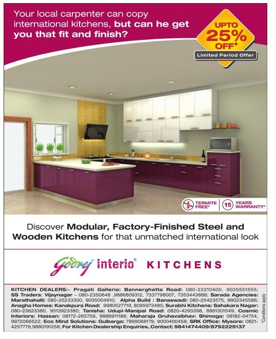 Godrej Modular Kitchen Prices In Haryana: Godrej Interio Kitchen - Upto 25% Off* / Bangalore