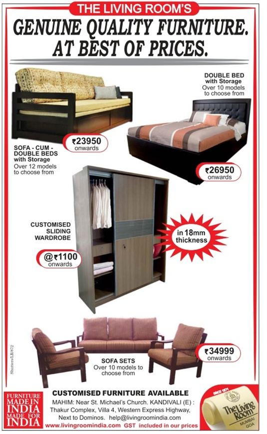 Living Room Furniture Mahim >> The Living Room - Sale / Mumbai | SaleRaja