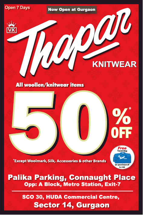 V.K. Thapar - 50% off Sale