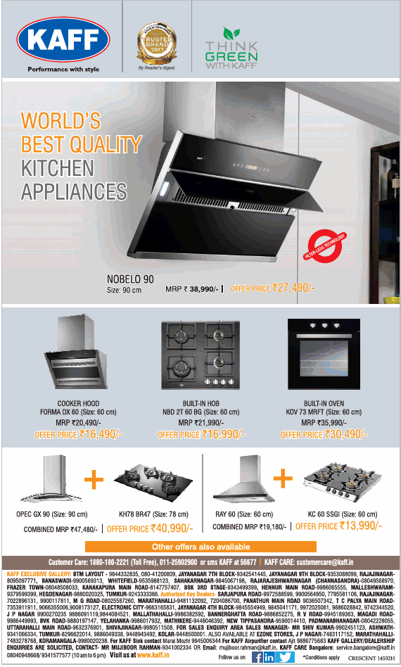 Kaff Appliances - Special Combo Offers
