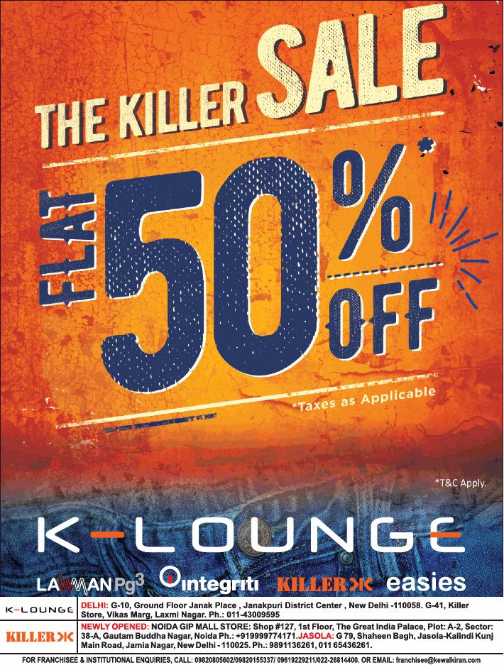 K-Lounge - Flat 50% off