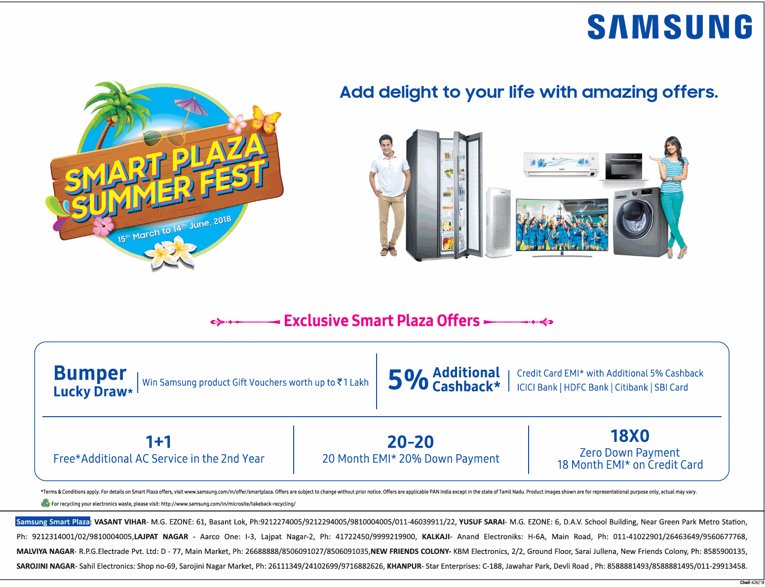 Samsung Home Appliances - Exciting Offers