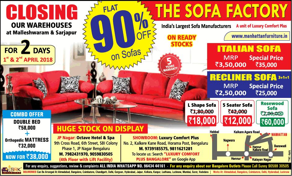 The Sofa Factory   Sale