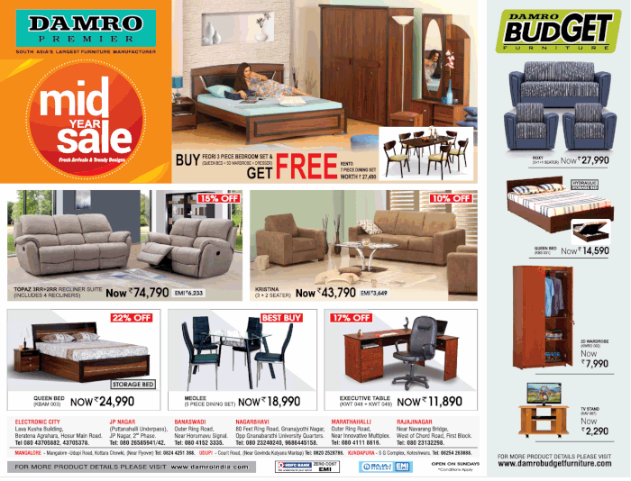 Damro Furniture  - Sale